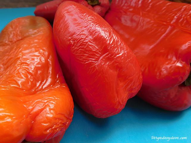Салат Катык с печеными перцами. Рецепт