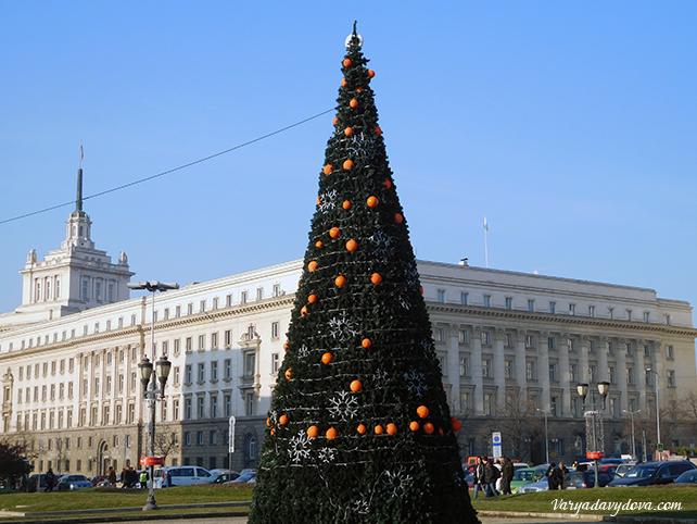 Новогодние праздники в Софии
