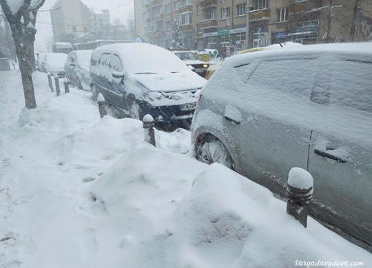 Снег в Болгарии 2018