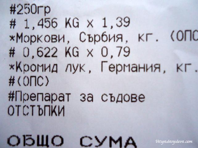 Цены в Болгарии 2015