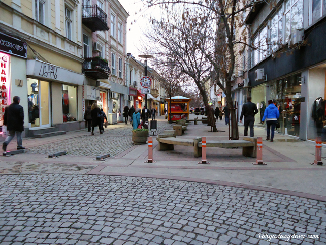 Столица Болгарии зимой. Декабрь