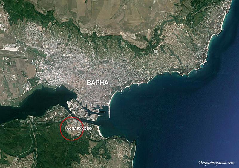 Карта квартала Аспарухово в Варне