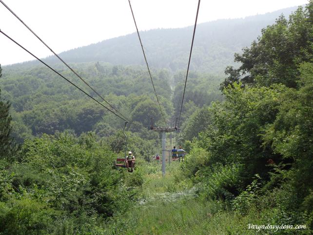 Лес в Болгарии. Лифт Драгалевски
