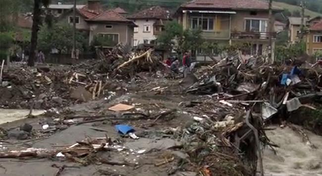 Наводнение в Болгарии в сентябре (06.09.2014) - Берковица