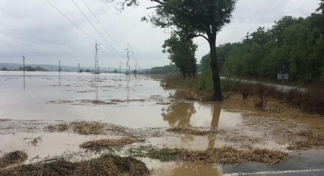 Наводнение в Болгарии в сентябре (06.09.2014) - Приморско