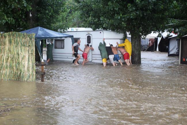 Наводнение в Приморско
