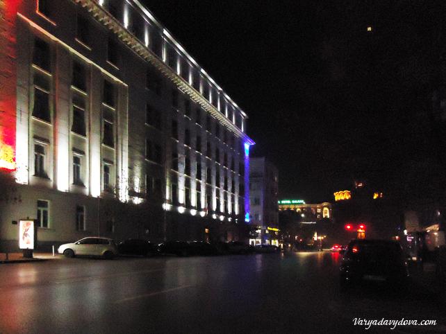 Ночная София или уличное освещение
