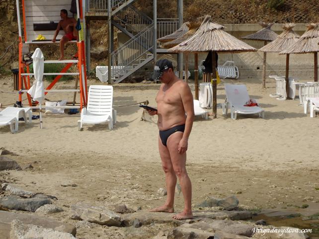 Русские на пляже