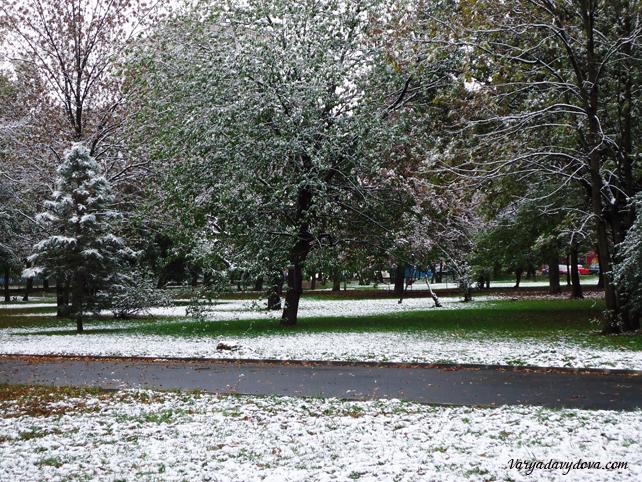 Зима в Софии. Снегопад