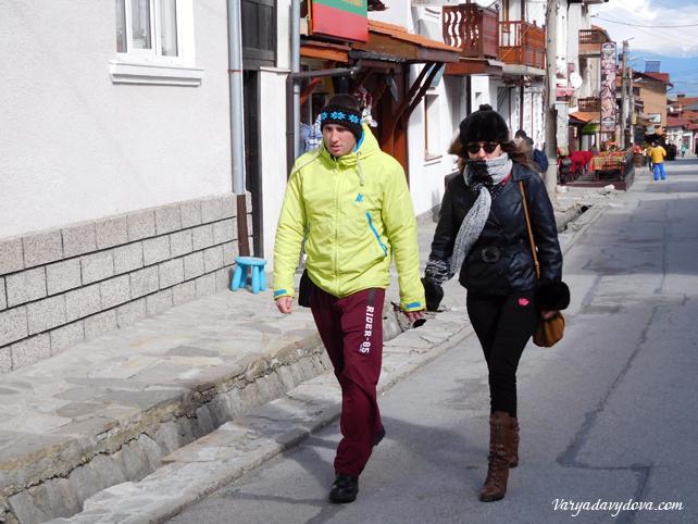 Туристы в Банско