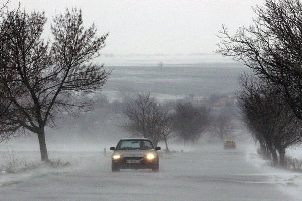 дороги в Болгарии зимой
